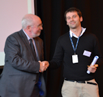 Prof. Graham Kemp with HLS first prize winner, Giovanni Pellegrini